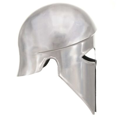 vidaXL Grekisk riddarhjälm för LARP silver stål
