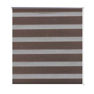 Rullgardin randig brun 120 x 230 cm transparent