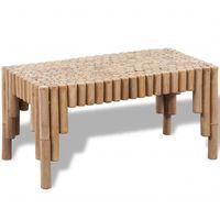 vidaXL Soffbord bambu