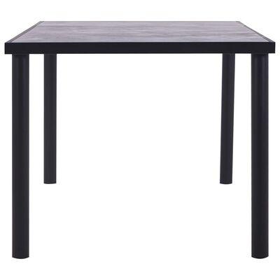 vidaXL Matbord svart och betonggrå 200x100x75 cm MDF