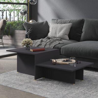 vidaXL Soffbord grå 111,5x50x33 cm spånskiva