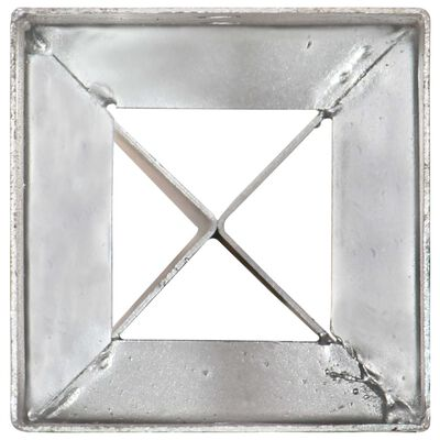 vidaXL Jordspett 6 st silver 10x10x91 cm galvaniserat stål