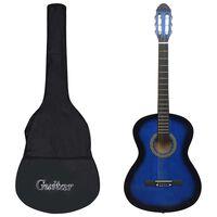 """vidaXL Klassisk gitarr 12 delar blå 4/4 39"""""""