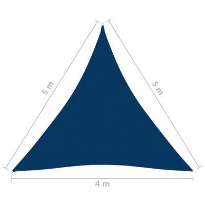 vidaXL Solsegel Oxfordtyg trekantigt 4x5x5 m blå