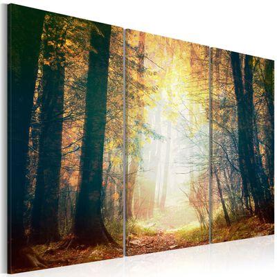 Tavla - Skönheten I Höst - Triptych - 90x60 Cm