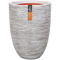 Capi Vas Nature Rib elegant låg 46x58 cm elfenben KOFI783