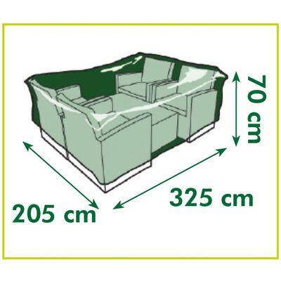 Nature Överdrag för lågbord och stolar 325x205x70 cm