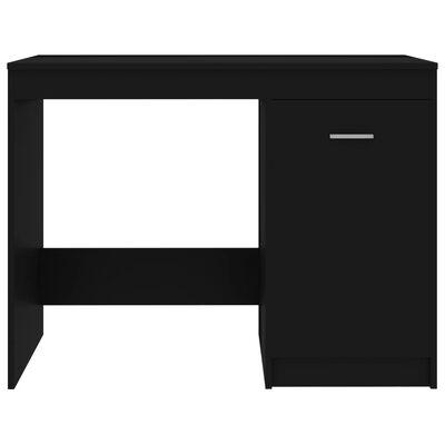 vidaXL Skrivbord svart 100x50x76 cm spånskiva