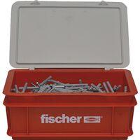 Fischer Spikskruvar set med pluggar N8x80 200 st