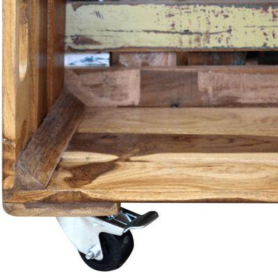 vidaXL Soffbord massivt återvunnet trä 70x70x35 cm,