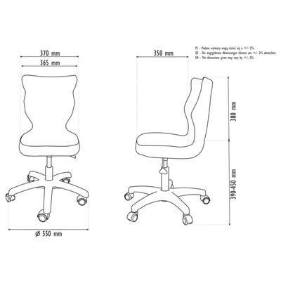 Entelo Ergonomisk skrivbordsstol för barn Petit JS01 strl 4 svart