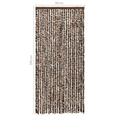 vidaXL Insektsdraperi brun och vit 90x220 cm chenille