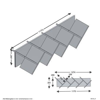 FMD Vägghylla geometrisk vit