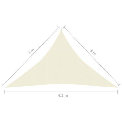 vidaXL Solsegel 160 g/m² gräddvit 3x3x4,2 m HDPE