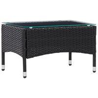 vidaXL Soffbord svart 60x40x36 cm konstrotting