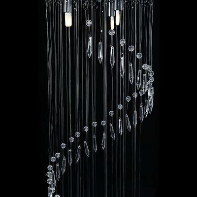 vidaXL Taklampa med kristallpärlor silver spiral G9