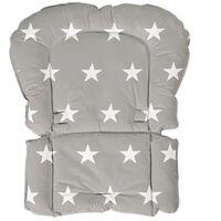 roba Barnstolsdyna Little Stars grå 50x65x3,5 cm