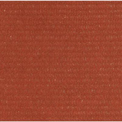 vidaXL Solsegel 160 g/m² terrakotta 2,5x3,5 m HDPE