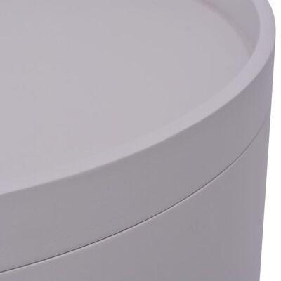 vidaXL Sidobord med bricka rund 39,5x44,5 cm grå