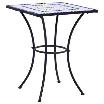 vidaXL Mosaikbord blå och vit 60 cm keramik