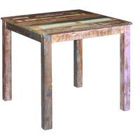 vidaXL Matbord massivt återvunnet trä 80x82x76 cm