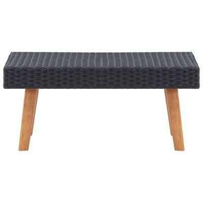 vidaXL Trädgårdsbord konstrotting svart