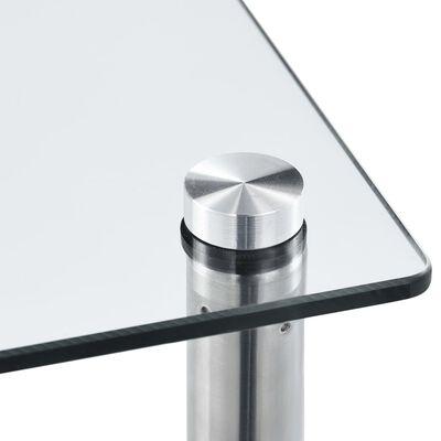 vidaXL Hylla 6 hyllplan transparent 40x40x160 cm härdat glas