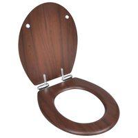 vidaXL Toalettsits med mjuk stängning MDF trä brun