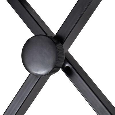 vidaXL Justerbar pianopall hopfällbar