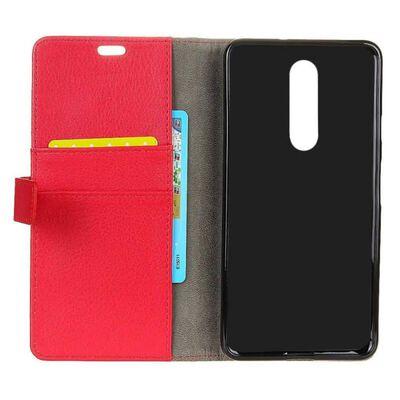 Mobilplånbok 2-kort Nokia 6.1 Plus (TA-1083) Röd