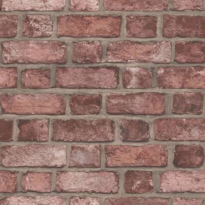 Homestyle Tapet Brick Wall röd