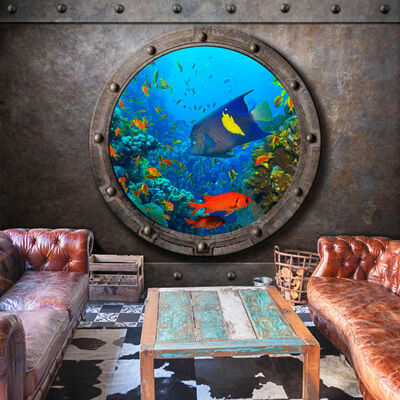 Fototapet - Submarine Window - 100x70 Cm