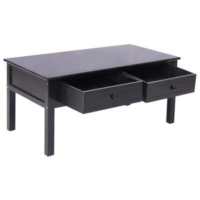 vidaXL Soffbord svart 100x50x45 cm trä