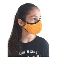 Gul ansiktsmask för barn, tvättbar, munskydd-S,Gul