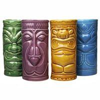 4x Keramikmuggar - Tiki