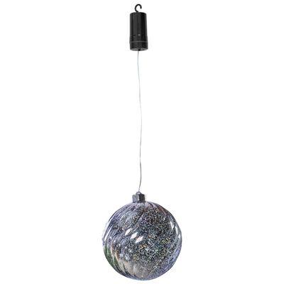 Luxform Batteridriven hänglampa LED Ball Swirl silver