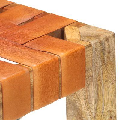 vidaXL Barstolar 2 st brun äkta läder 60 cm