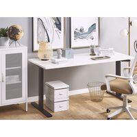 Skrivbord manuellt justerbart 180 x 80 cm vit/svart DESTIN II
