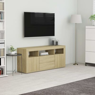 vidaXL TV-bänk sonoma-ek 120x30x50 cm spånskiva