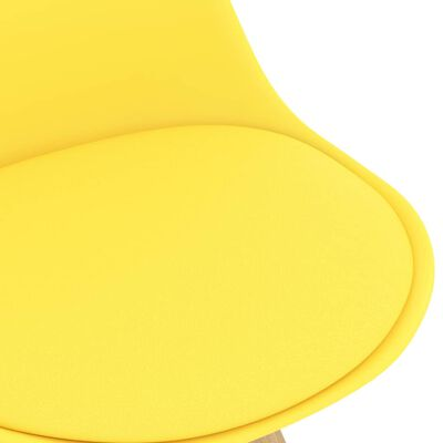vidaXL Bargrupp 3 delar gul