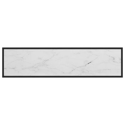 vidaXL Konsolbord vit 140x35x75 cm härdat glas