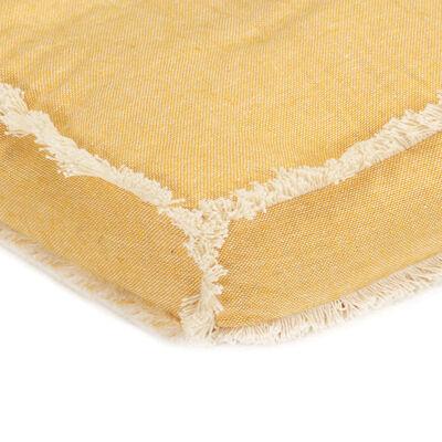 vidaXL Dyna till pallsoffa gul 73x40x7 cm