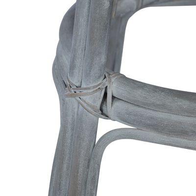 vidaXL Barstolar 2 st grå rotting