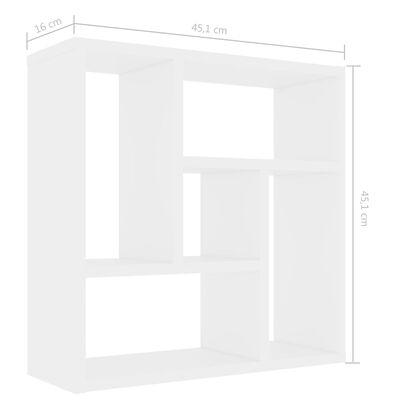 vidaXL Vägghylla vit 45,1x16x45,1 cm spånskiva