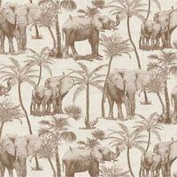 DUTCH WALLCOVERINGS Tapet Elephant Grove beige