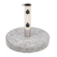 vidaXL Parasollfot granit rund 22 kg