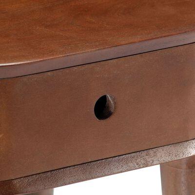vidaXL Sängbord 50x35x55 cm massivt acaciaträ