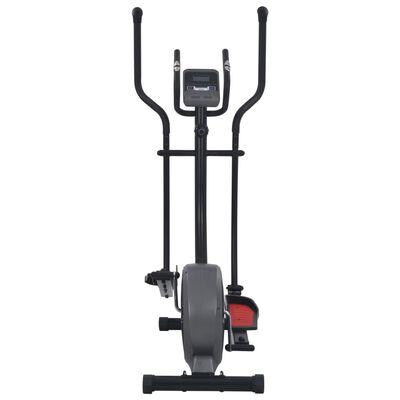 vidaXL Crosstrainer magnetiskt motstånd med pulsmätning