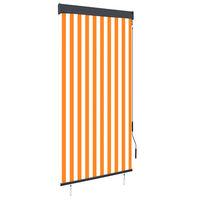 vidaXL Rullgardin utomhus 100x250 cm vit och orange