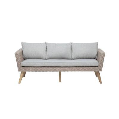 Loungegrupp rotting brun/grå VITTORIA XL